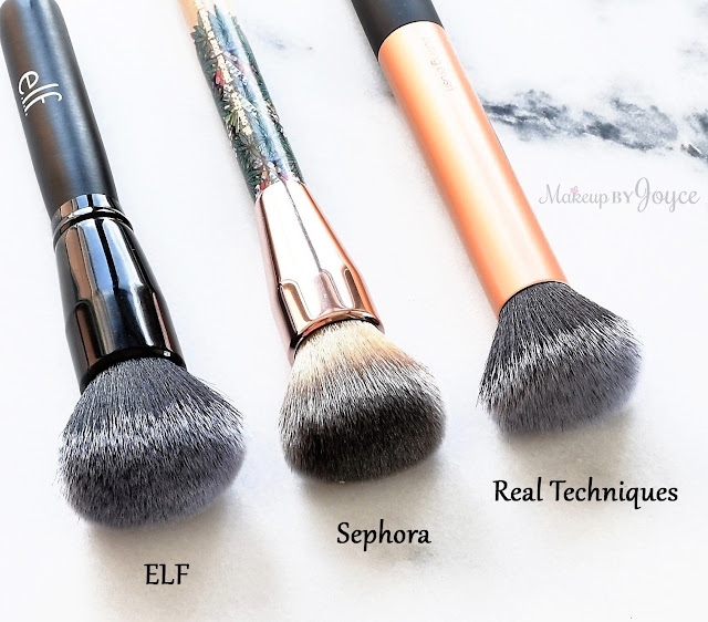 Sephora Mara Hoffman Allover Face Brush Review Dupe ELF Ultimate Blending