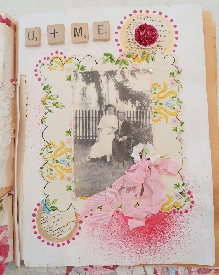 Valentine altered book