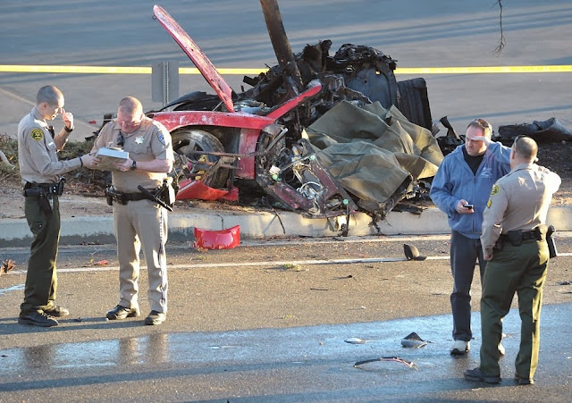 Investigators probing the spot for solving the Paul Walker accident case