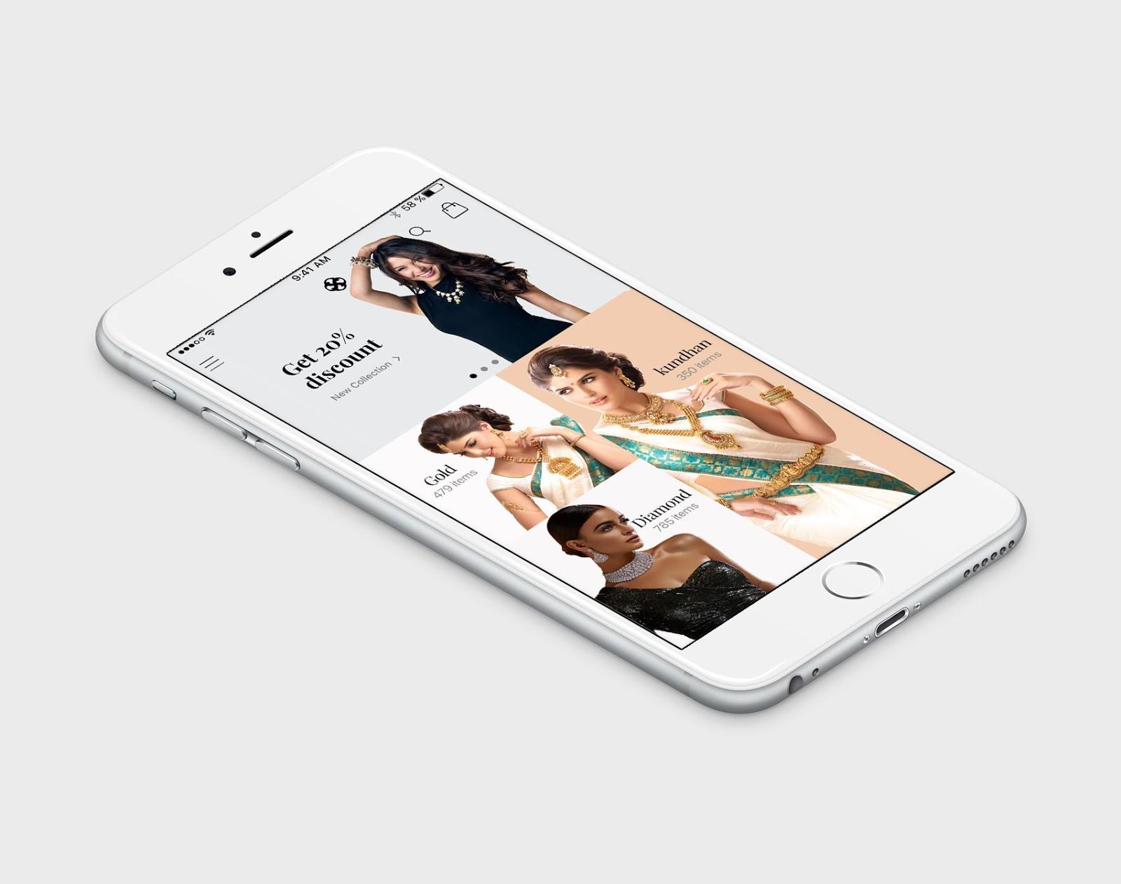 Jewellery%2BApp%2BUI%2BDesigns Jewellery App UI Designs download