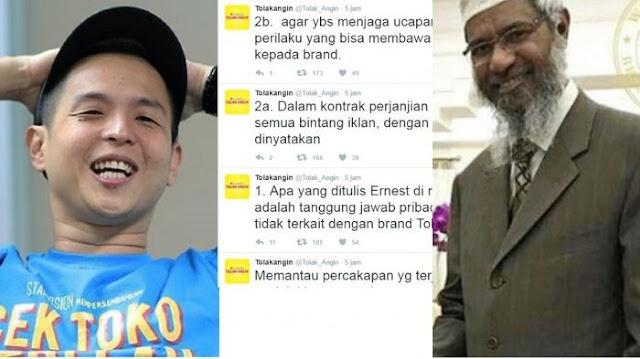 Buntut Ucapan Ernest Di Sosmed, Kontraknya Dengan Sido Muncul Tak Lagi Diperpanjang