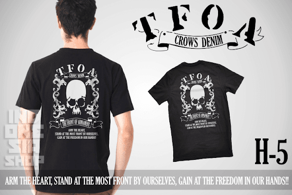 indonesia shop h5 t shirt crows zero arm the heart