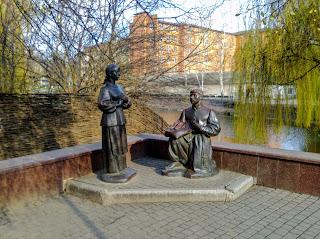 Миргород. Скульптурна композиція Вакули і Оксани