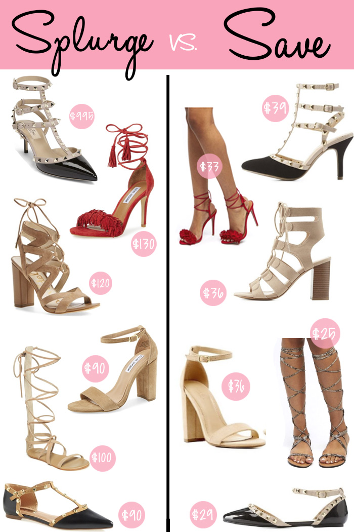 Splurge or save on shoes