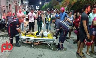 Carro colide com Moto, deixa três pessoas feridas, incluindo uma criança na PB