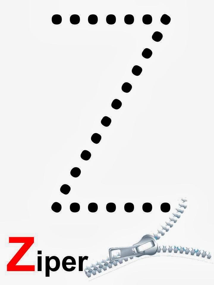 alfabeto zíper