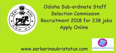 OSSSC recruitment 2018