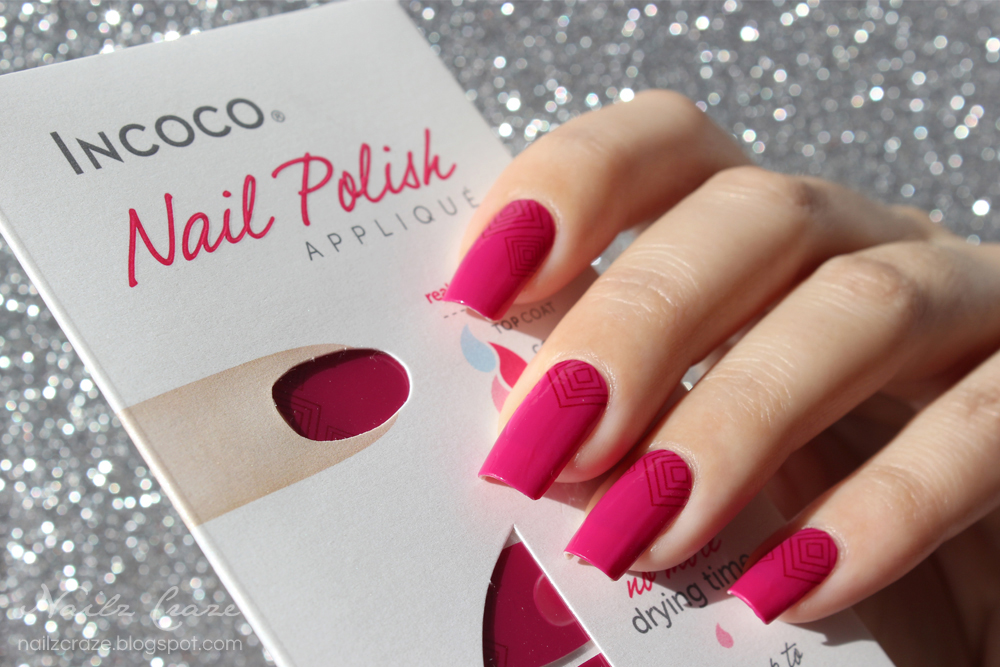 Incoco Nail Polish Strips In Sweet Sangria Review Amp Giveaway Nailz Craze