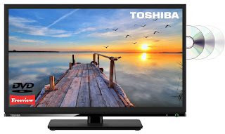 TELEVISION DEAL £99 Toshiba 24D1533 24″ LED TV/DVD Combi Black HD Ready 720p Freeview