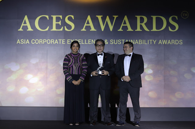 Leading with vision and courage. Bounty Agro Ventures, Inc. (BAVI) President and General ManagerRonald Mascariñas accepts award as one of the Outstanding Leaders in Asia at the Asia Corporate Excellence & Sustainability (ACES) Awards.