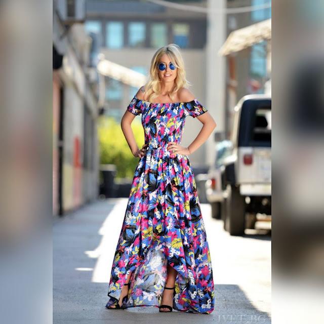 Εντυπωσιακό  χρωματιστό φόρεμα VANGELA