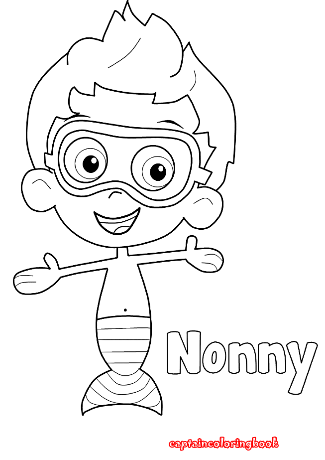Bubble Guppies Coloring Pages Nonny - Bltidm