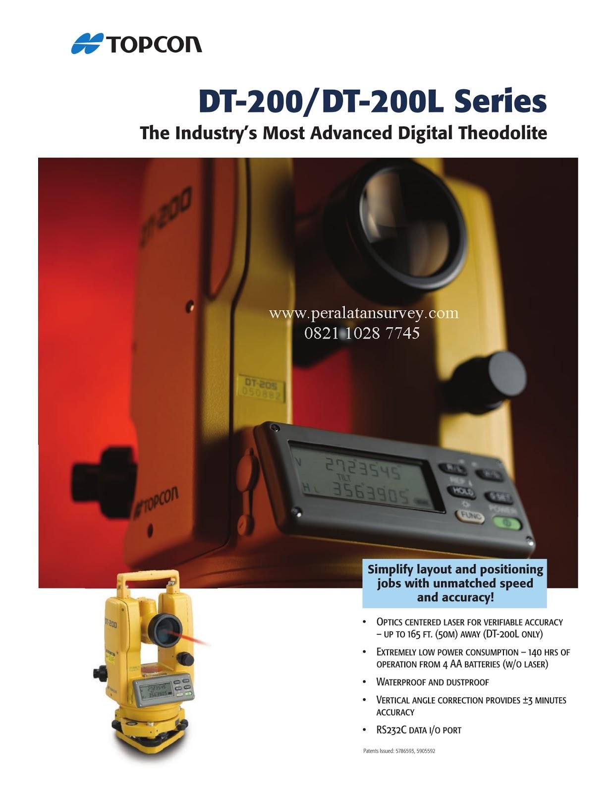 Brosur Digital Theodolite Topcon DT 200 Series