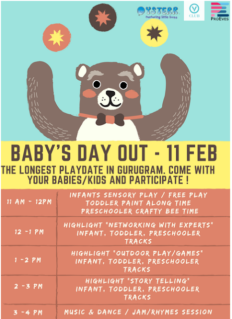 V Club is organizing a Babies Day Out on 11th February 2017.