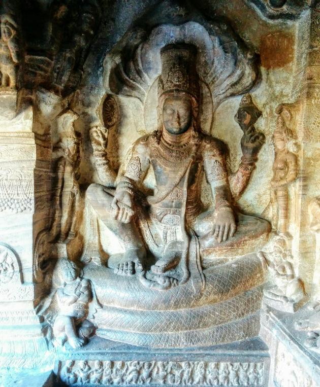 Vishnu statue, Badami cave temple, Karnataka