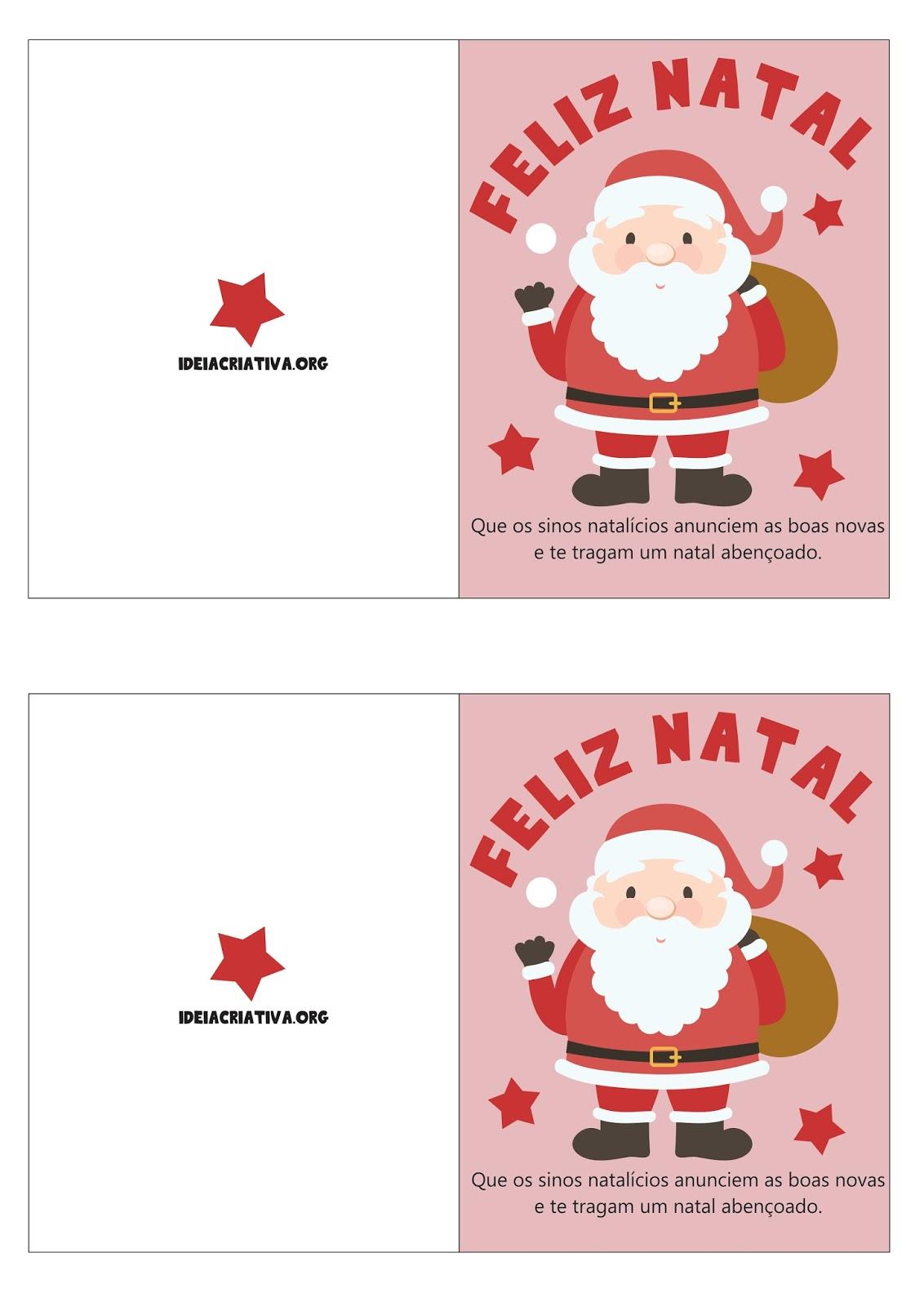 Cartoes De Natal Com Mensagem Natalina Para Imprimir