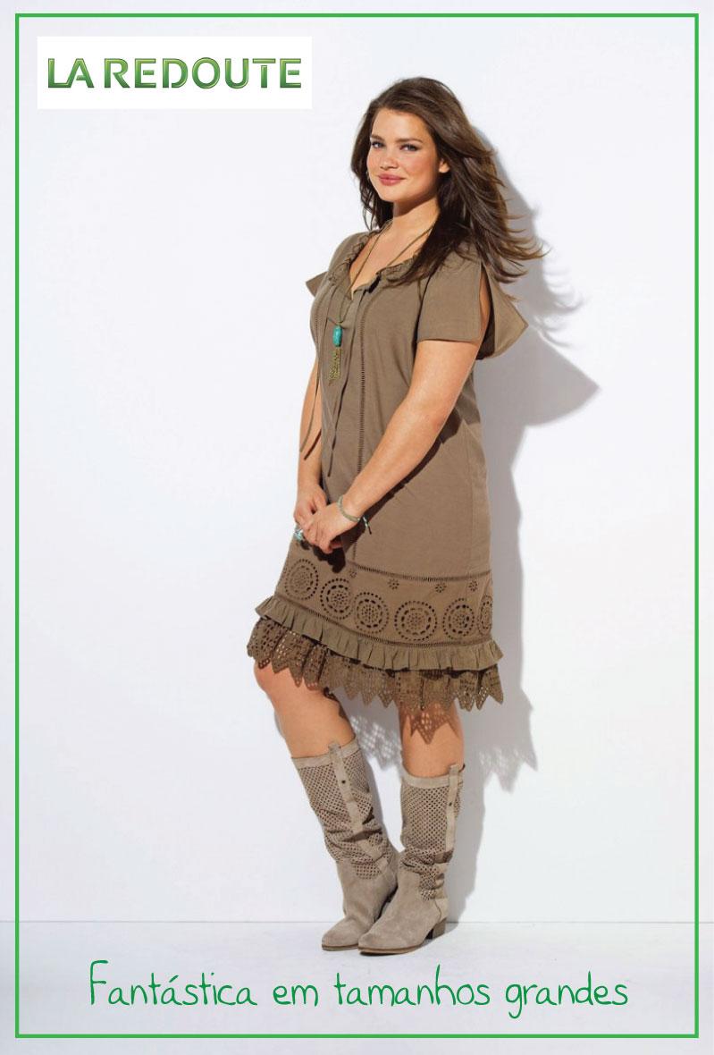 2db1c67fec04 A roupa é da La Redoute e é a prova que não é preciso ser magra para estar  gira e fashion!