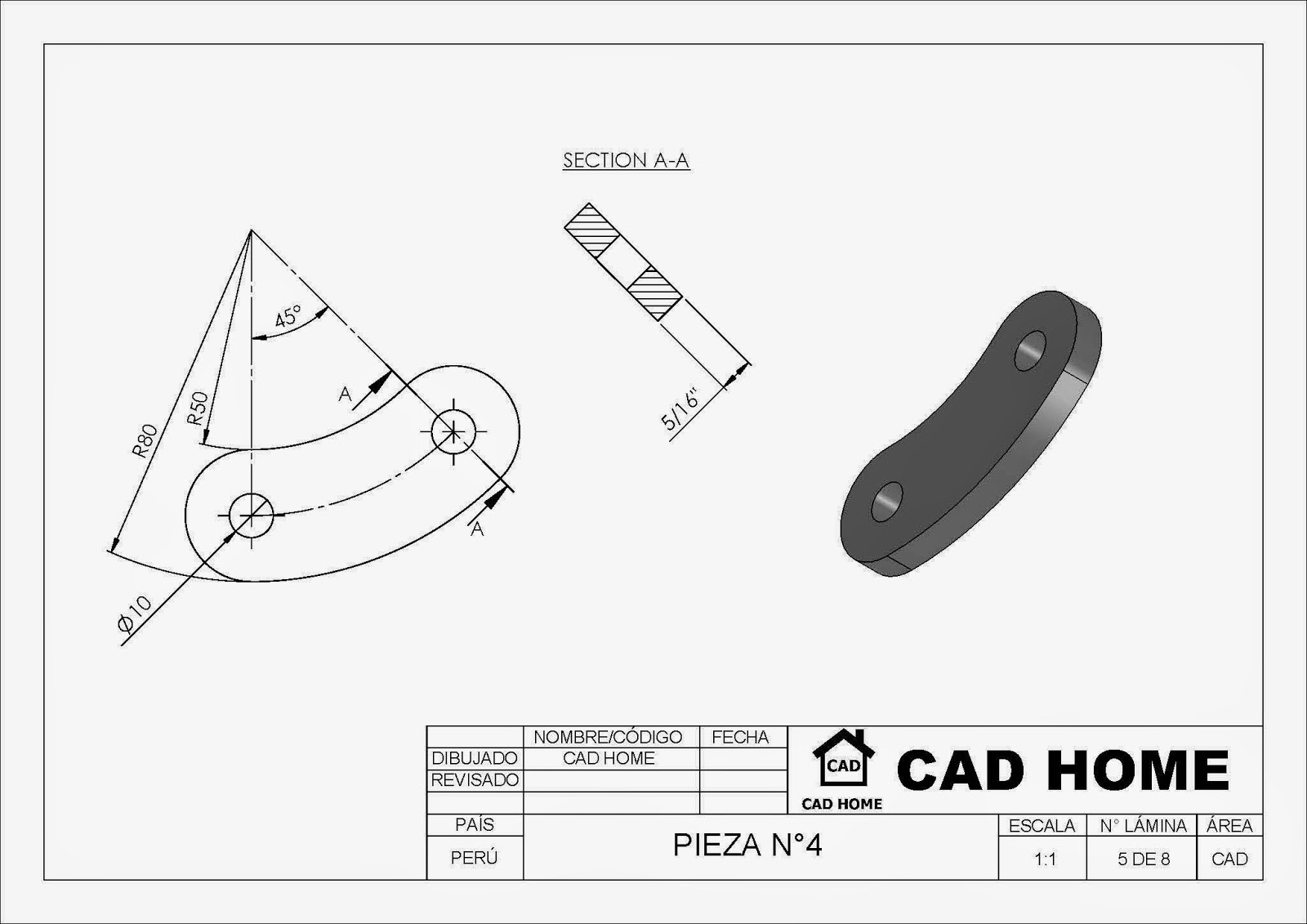 CAD HOME: GUILLOTINA MANUAL EN SOLIDWORKS