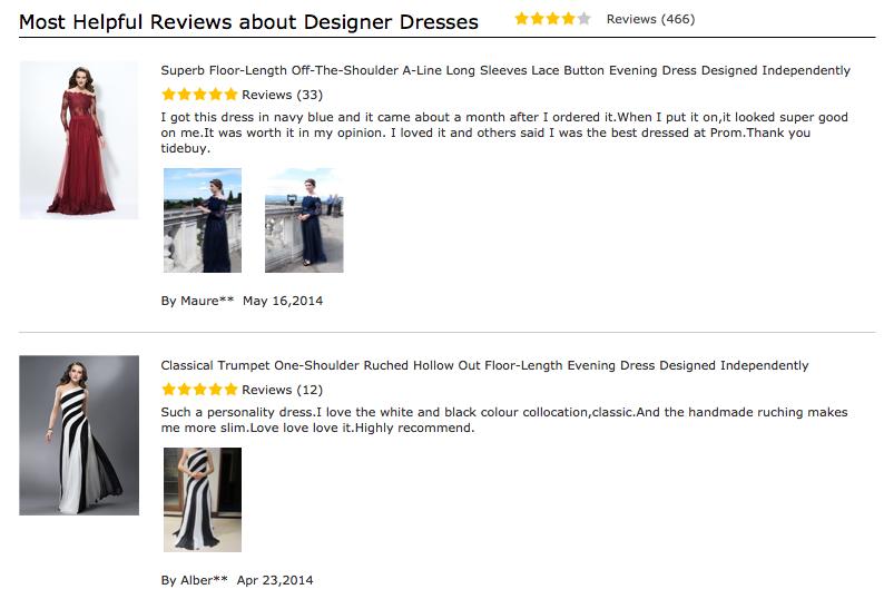 c7a3d683fc24 Tidebuy Reviews by Designer Dresses | Tidebuy Designer Dresses Reviews