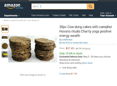 Cow Dung Cakes: Online Sales