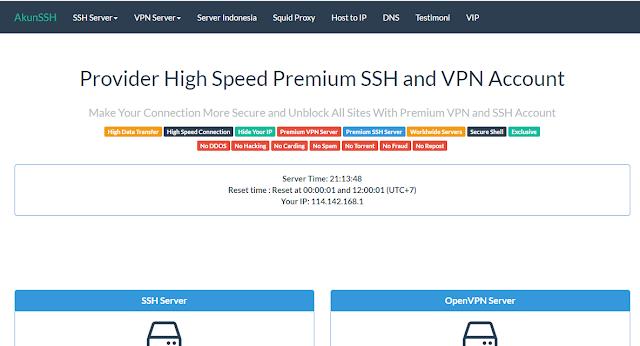Situs penyedia SSH yang support SSL dan TLS