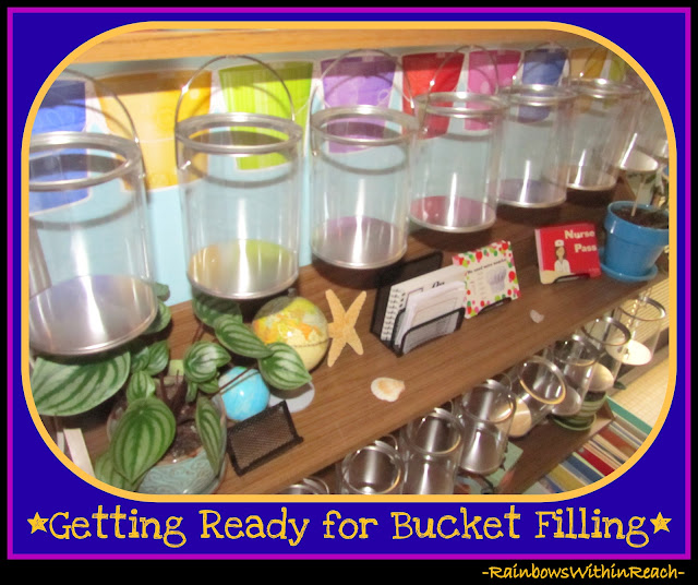 photo of: Bucket Filling Station in First Grade via RainbowsWithinReach