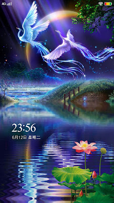 Jasmine Flower and Bird Theme itz For Vivo