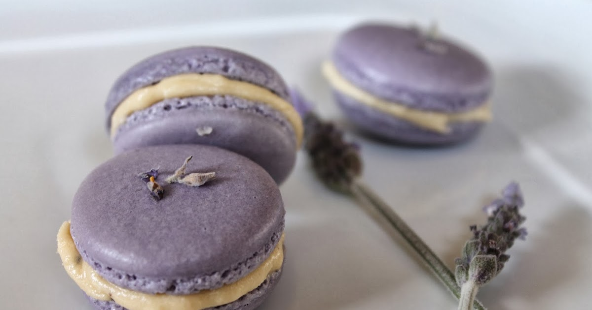 Lavender Macarons with Honey Earl-Grey Buttercream