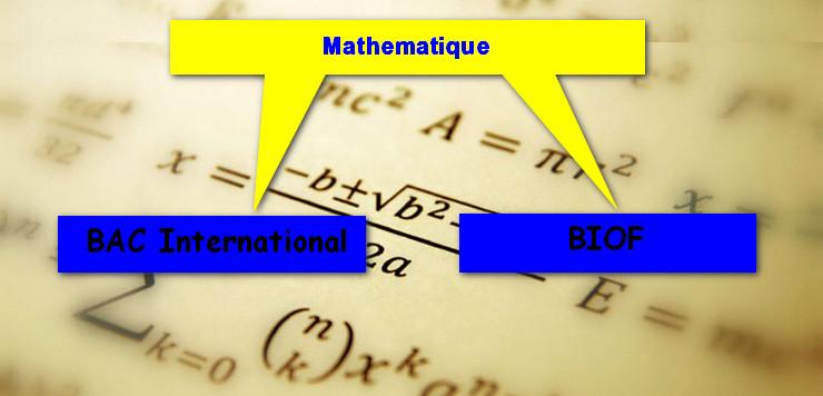 دروس الرياضيات لكل المستويات باللغة الفرنسية  BIOF et BAC International