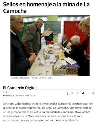 Exposición de Coleccionismo Minero en la Camocha. Noticia de El comercio digital