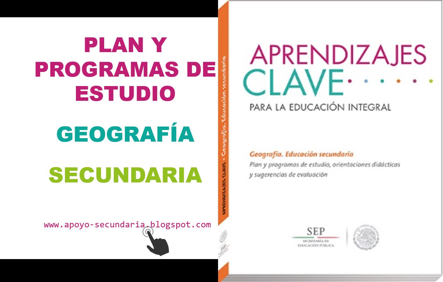 Plan y Programa de Estudio de Geografía