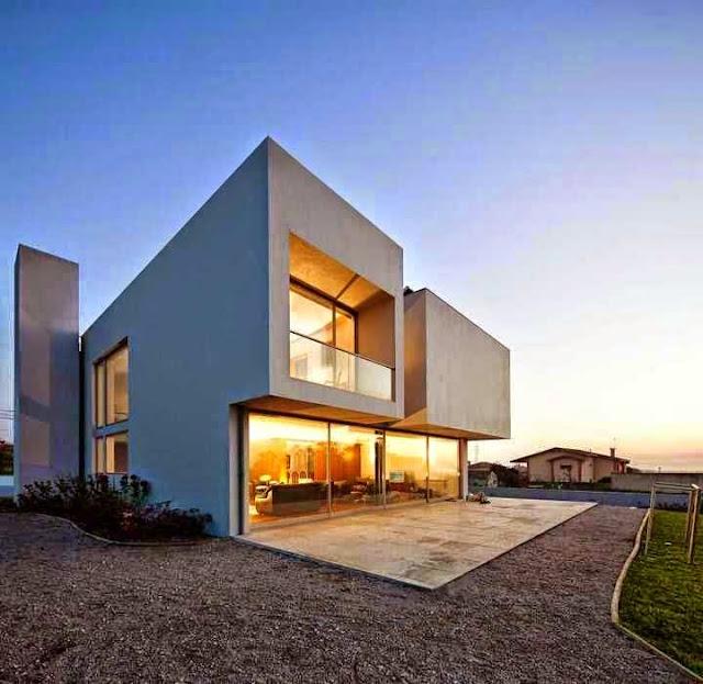 fasad rumah futuristik
