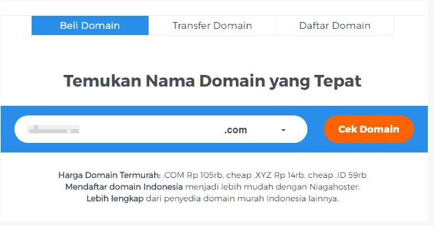 Cara Memasang Domain dari Blogspot ke TLD di Niagahoster