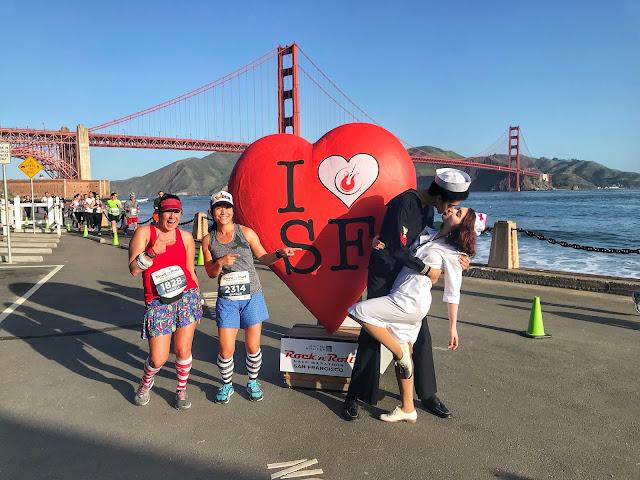 Rock'n'Roll San Francisco Half Marathon I love SF photo op