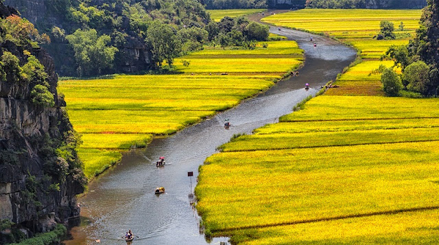 Exploring Tam Coc in Harvest Time 1