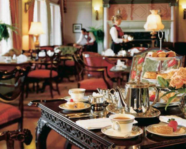 Chá da tarde no Hotel Empress em Victoria