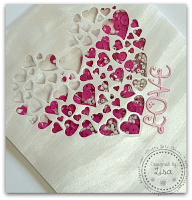 Shaker Card created In The Crafting Cave with Lisa using The Paper Temptress Papers