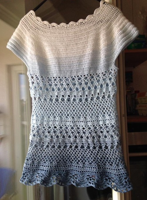 Lacey Days (Crochet Top ) - Free Pattern