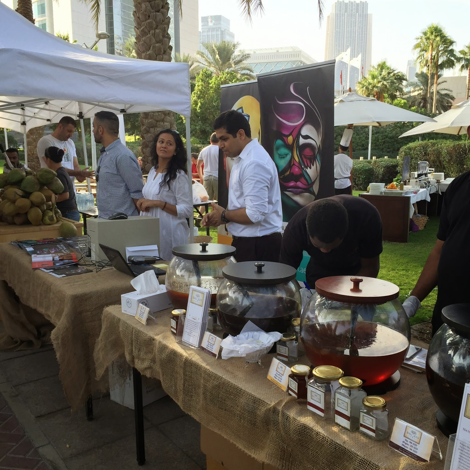The Farmer's Market on the Terrace in Dubai  - honey