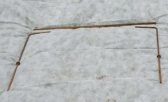 Укрытие роз на зиму сухое каркас арматура