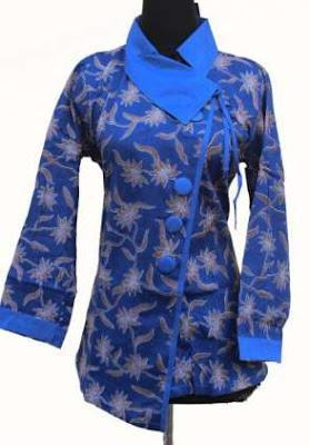 Model baju batik kerja wanita muslimah