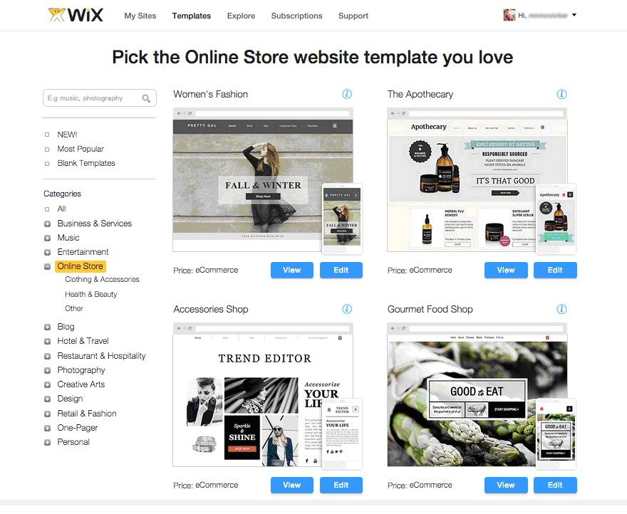 Wix eСommerce Website Builder Review   Best eCommerce