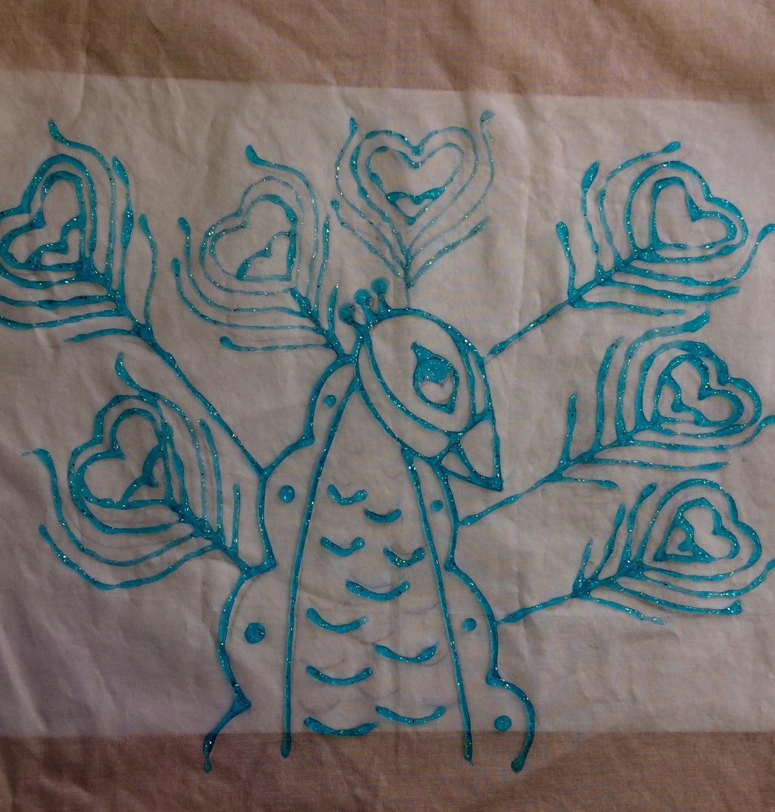 Kathy's Art Project Ideas: Gel Glue Batik Lesson