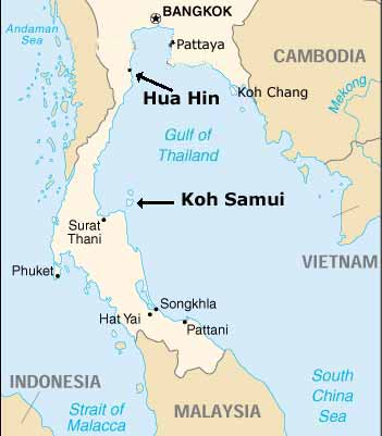 Koh Samui Location in Thailand