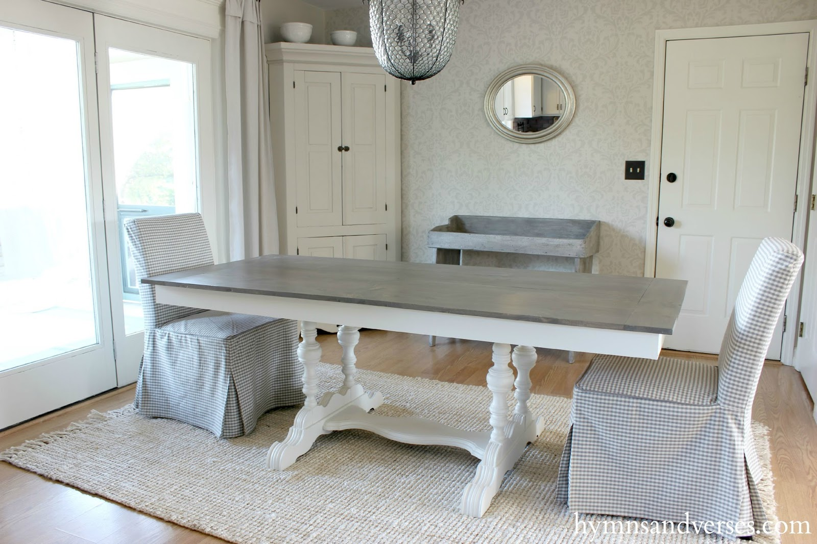 diy farmhouse table top DIY Farmhouse Tabletop   Hymns and Verses diy farmhouse table top