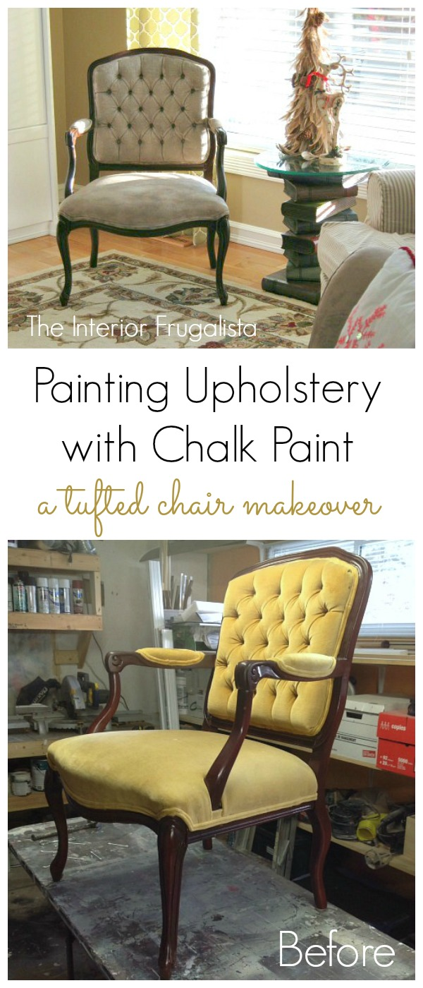 Painting Tufted Chair Upholstery With Chalk Paint
