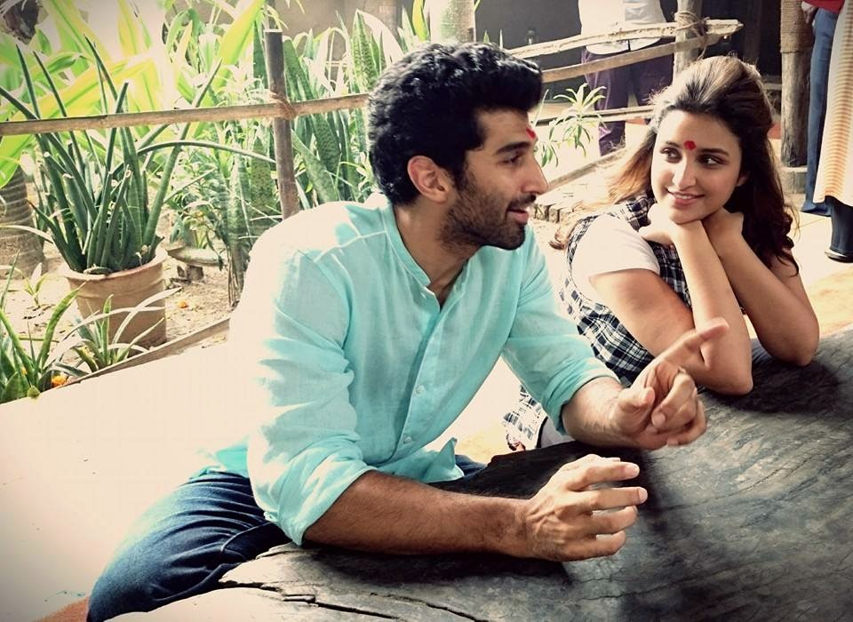 Parineeti and Aditya Kapur at promotion of their movie