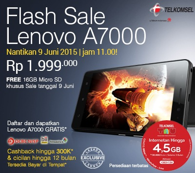 flash sale lenovo a7000