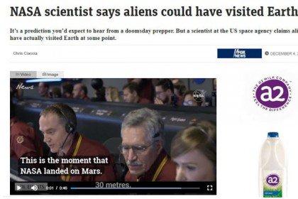 Alien has already visited Earth. NASA's claim