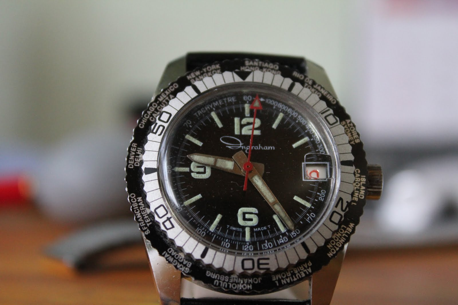 Vintage Watches for Sale !: FS: Ingraham World Time Diver